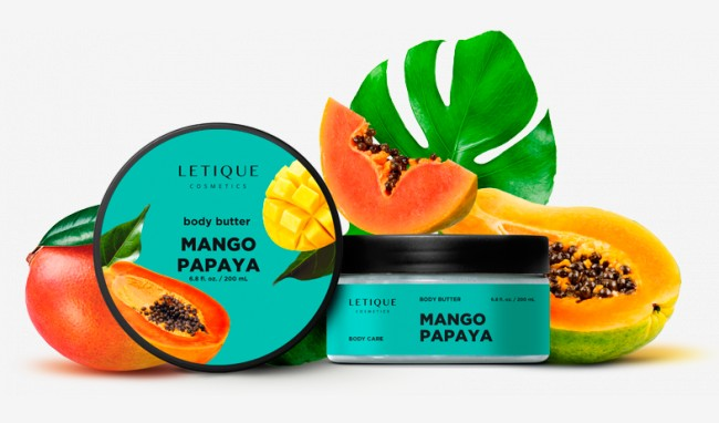 Body cream butter mango-papaya