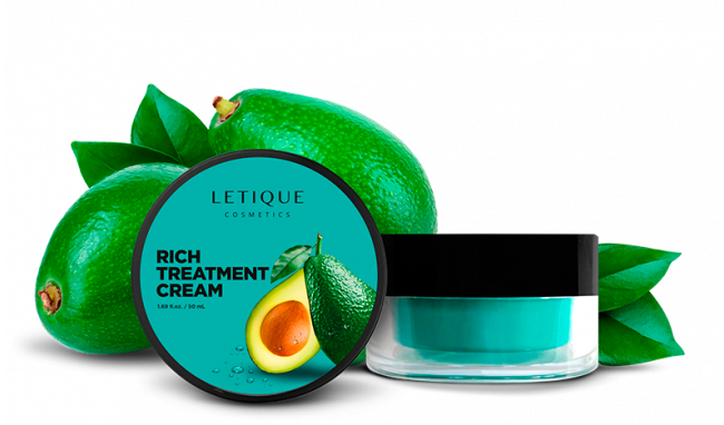 Intense nourishing face cream with avocado