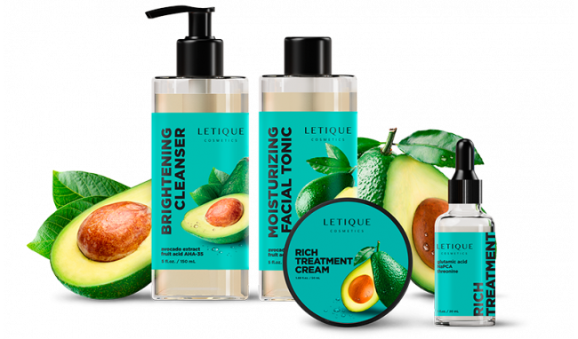 Face care products with avocado